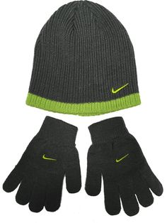 9b3344b649a Amazon.com  Nike Boys Rib Knit Hat and Glove Set Size   Youth 8 20   Clothing. Cool Things To BuyStuff ...