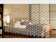 Cool hex divider curtain for space separation