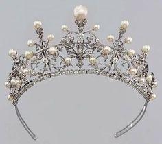 Vintage Pearl and Diamond Tiara.