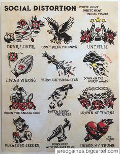 #music I drew this Social Distortion tattoo flash
