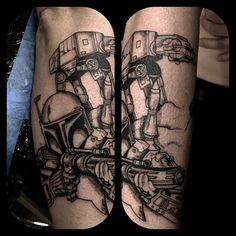 Boba Fett #bobafett #fett #tattoo #tattooflash #tattooapprentice #tattoos #starwars #starwarsfan #starwarstattoo #bobafetttattoo #atat #atattattoo #bishoprotary #intenze #inked