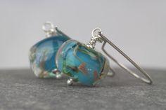 Sterling silver drop earrings with lampwork beads ~ extra long silver dangle earrings ~ unusual jewelry ~ ladies earrings ~ celebration gift by AmySquaredJewellery on Etsy https://www.etsy.com/uk/listing/512213774/sterling-silver-drop-earrings-with