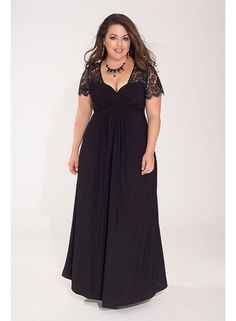 Monica Plus Size Gown in Black