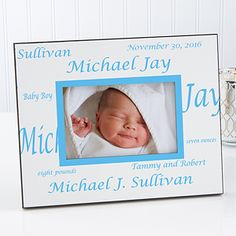 Personalized Baby Picture Frame - New Arrival - Border - Baby Gifts