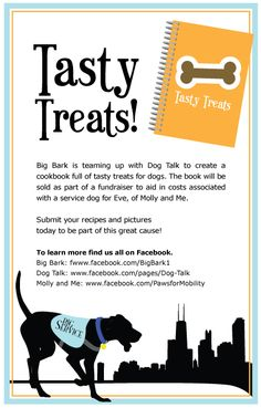 Join us in collecting tasty doggy treats for a cookbook
