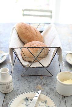 Vintage wire bread basket