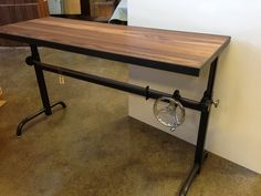 adler table - solid walnut with a natural steel base  contribution:  Project Manager  Ohio Design2013