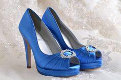 Wedding Shoes- Platform Dress Shoes- Bridal Peep Toe - 4 inch Heels- 120 Custom Dye Colors on Etsy, $96.51 CAD