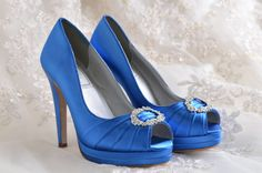 Wedding Shoes- Platform Dress Shoes- Bridal Peep Toe - 4 inch Heels- 120 Custom Dye Colors on Etsy, $96.51 CAD