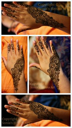 Keep it simple for Engagement mehndi - wish I'd seen this pin in December!
