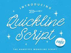Quickline Script Free Typeface by ianmikraz