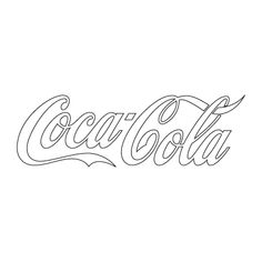 Logo of Coca Cola Drive In, Logo Coca, Coke Can Crafts, Coca Cola Party, Coca Cola Light, Coca Cola Brands, Drinks Logo, Slogan Tshirt, Adult Coloring Pages