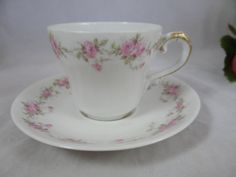 1895 Theordore Haviland Limoges France Pink Rose by SecondWindShop