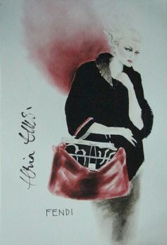 Fashion illustration inspired by the couture collections of the great designers of our time by Elria Ellis on Etsy