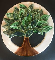 Ceramic leaf - Art Modern