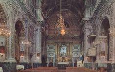 Mother church in Santa Margherita di Belice before the earthquake of 1968.