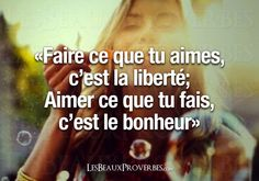 Liberté & Bonheur Positive Attitude, Positive Quotes, Words Quotes, Sayings, Quote Citation, Think, French Quotes, Magic Words, My Mood