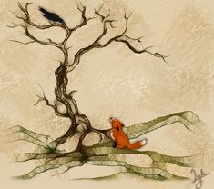 The fox, the Crow and the Cookie by Ink--feather.deviantart.com on @deviantART