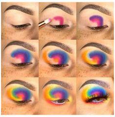 Makeup Eye Looks, Eye Makeup Steps, Eye Makeup Art, Crazy Makeup, Makeup Eyeshadow, Dark Eyeshadow, Eyeshadow Palette, Natural Eyeshadow, Makeup Inspo