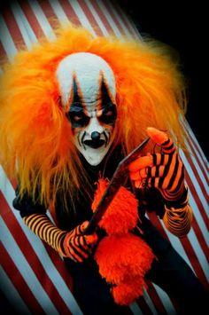 Orange creepy clown