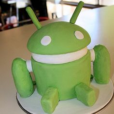 Happy 4th Bday, Android - Android Birthday Cake
