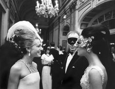 """The Black and White Ball"""" - A masquerade ball held on November 1966 at the Plaza Hotel in New York City, USA. Hosted by author Truman Capote in honor of The Washington Post publisher Katharine Graham. Plaza Hotel, Lee Radziwill, Beatles, Black Tie, Black And White, Cecil Beaton, Diana Vreeland, Masquerade Party, Masquerade Masks"""