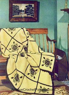 Crochet Afghan - Fireside Formality Afghan