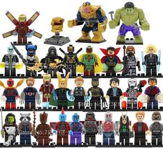 30 pcs Super Heroes Avengers Infinity War 2 Thanos Hulk Series Lego Blocks - New Ideas Legos, Iron Man, Thanos Hulk, Deadpool, Lego Marvel's Avengers, Lego Blocks, Custom Lego, Avengers Infinity War, Animales