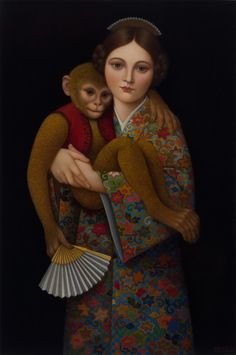 Girl With Monkey, Colette Calascione