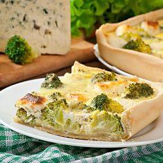 Quiche au brocoli et fromage frais