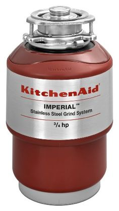 KitchenAid KCDI075VA 3/4 HP Continuous Feed Disposer Stainless steel grind elements. 5 year warranty. Whisper Quiet Sound Barrier. 50 oz capacity. Lock-mount easy installation.