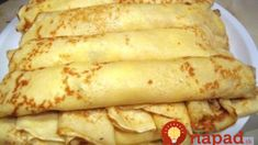 Tasty pancakes w/o milk and eggs - can be a vegan diet. Hungarian Desserts, Hungarian Recipes, Russian Recipes, Tasty Pancakes, Pancakes And Waffles, Super Healthy Recipes, Sweet Recipes, Baking Recipes, Dessert Recipes