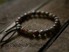 Strength & Courage Men's Mala Bracelet, Yoga Jewelry, Tibetan Jewelry, Chakra Bracelet, Yoga Bracelet, Tibetan Beaded Bracelet, Men's Jewelry, Men's Beaded Bracelet, Men Yoga Bracelet by CandiedBohemian, $32.70