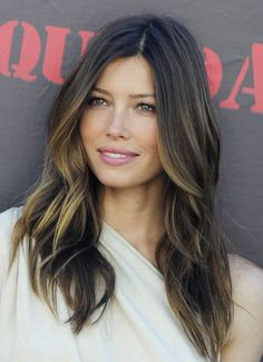Jessica Biel with balayage may get brave and do this summer! @Robin Maronel