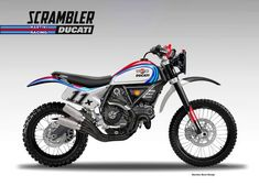 "DUCATI SCRAMBLER ""BAJA MARTINI RACING"" on Behance"