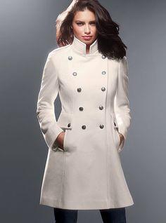 Winter White Wool Coat