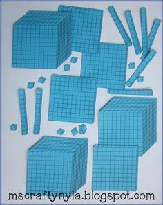 math lesson, blue paper, school stuff, lesson idea, print