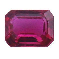 0.20 ct Emerald Cut Ruby Pinkish Red -Gold Crane & Co.