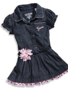 GUESS Kids Girls Denim Dress with Bloomers (12 - 24m), MEDIUM STONE (18M) GUESS Kids. $43.00