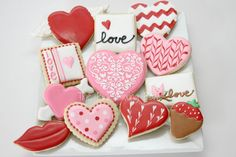 Valentine's Day cookies by The Pink Mixing Bowl!
