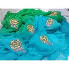 Hand Embroidery Dress, Embroidery Suits Design, Pure Georgette Sarees, Pure Silk Sarees, Organza Saree, Chiffon Saree, Gota Patti Saree, Velvet Shawl, Blouse Designs Silk