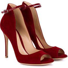 Gianvito Rossi Open Toe Suede Sandals