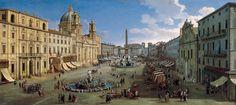 Piazza Navona 1699 - Caspar van Wittel