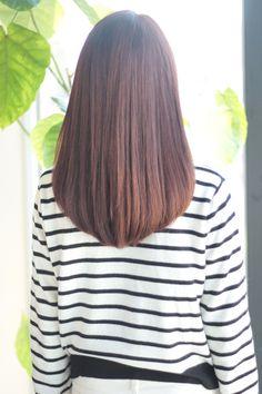 V-shape Long Hairstyle Medium Long Hair, Long Layered Hair, Medium Hair Cuts, Long Hair Cuts, Braids For Long Hair, Korean Long Hair, Korean Hair Color, Dark Blonde Hair Color, Hair Color And Cut