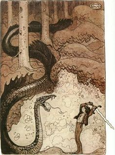 He Fought the Dragon by John Bauer