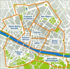 Map of Florence. Website includes hotels.