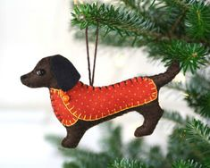 Идеи нарядов для новогодней красавицы, или Елочные игрушки из фетра - Ярмарка Мастеров - ручная работа, handmade