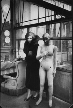Leonor Fini, Paris, 1932, photographie de Henri Cartier-Bresson