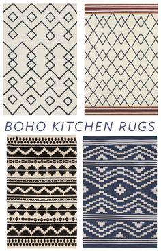 : Neutral Boho Patterned Rugs for quick kitchen update kitchenpaint - Carpets Mag Boho Kitchen, Kitchen Rug, Kitchen Decor, Kitchen Small, Diy Kitchen, Kitchen Ideas, Neutral Kitchen, French Kitchen, Decor Scandinavian