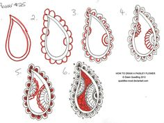 How to draw Paisley Flower 25  by *Quaddles-Roost